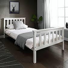 European Bed Frames Single 3ft Wooden Bed Frame White Solid European Wood For