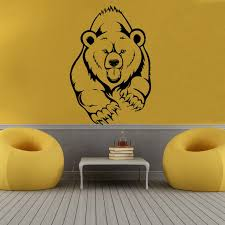 k home decor grizzly bear wall stickers animal wall decals creative art vinyl