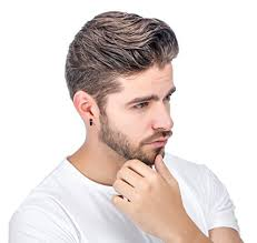 earrings men jstyle stainless steel black unique small hoop earrings for men