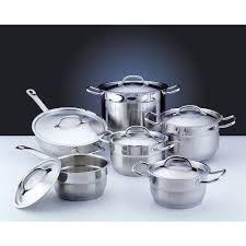 batterie de cuisine inox professionnel hotel line batterie de cuisine 12 pièces achat vente