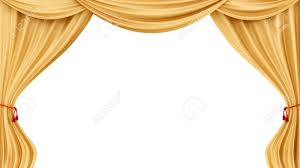 Gold Curtain Render Of Gold Curtains Isolated On White Stock Photo Picture