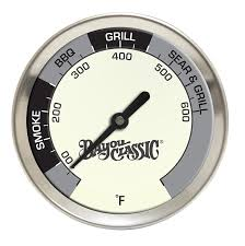 Backyard Grill Thermometer by Amazon Com Bayou Classic 500 580 2 5 In Diameter Grill