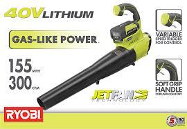 black friday deals for ryobi saws at home depot ryobi 155 mph 300 cfm 40 volt lithium ion cordless jet fan blower