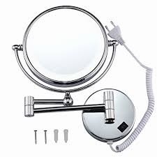 wall mounted hardwired lighted makeup mirror 10x hardwired makeup mirror unique gurun 8 inch two sided swivel