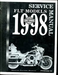 harley davidson factory service manual 99483 98 1998 flt touring
