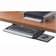 office desk with adjustable keyboard tray fellowes office suites deluxe keyboard manager height adjustable and