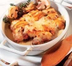 poulet cuisine recette gratin de poulet aux chignons