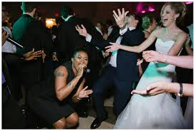 nj wedding band and groom sing with wedding band on floor ashford