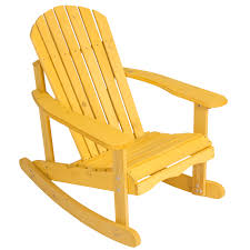 Wooden Rocking Chair Dimensions Outdoor Adirondack Rocking Chair Natural Fir Wood Deck Garden