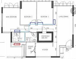 hdb floor plans typical hdb aircon and piping layout jex aircon