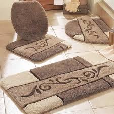 Contemporary Bathroom Rugs Contemporary Bathroom With Brown Bathroom Rug Sets And Beige
