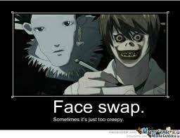 Death Note Meme - death note face swap by zamolcsis meme center