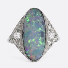 black opal engagement rings edwardian black opal cocktail ring butter antiques