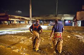 bridge collapses in atlanta freeway fire during rush hour nbc news