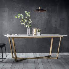 Hairpin Leg Dining Table Marble Dining Table Wood Legs Marble Table Timber Legs Cream