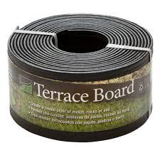 master mark terrace board 4 in x 20 ft black plastic landscape