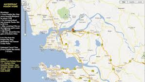 Goa Map Waterfront Holiday Home Panjim Goa