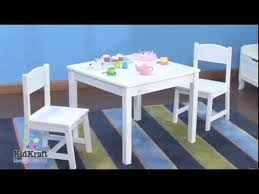 Kidkraft Table With Primary Benches 26161 Kidkraft Aspen Table U0026 2 Chair Set White 21201 Wooden Kids