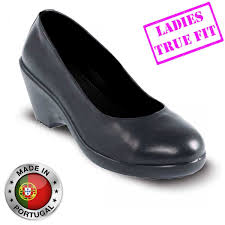 womens safety boots uk lavoro grace esd executive black leather safety court shoes