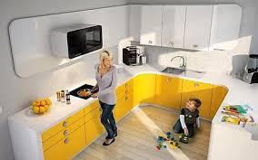küche gelb stilvolle sehr schöne gelbe einbau küchen modelle dekorationsidee