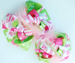 custom hair bows big sis sis custom matching hair bows set