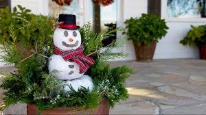 Snowman Lawn Decorations Diy Pumpkin Snowman Garden Answer Youtube