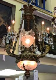 1930s Chandelier by Antique Galleries Of St Petersburg Chandeliers Stained Glass