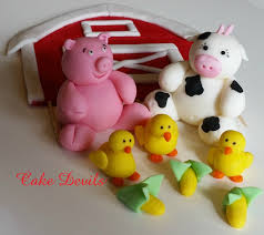 flat barn u0026 farm animal fondant cake topper kit handmade
