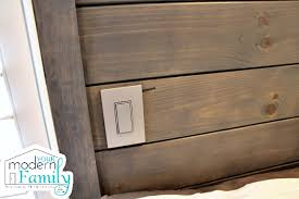 diy headboard with lights diy wooden headboard with light trundle your modern family