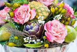 fruits flowers flowers and fruits decoration stock photo colourbox
