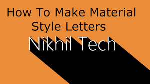how to make material style letters or long shadow letters in gimp