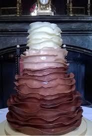 four tier graduated chocolate wedding cake contemporary cake designs