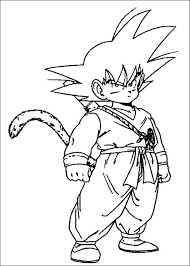 kid goku coloring pages print coloringstar