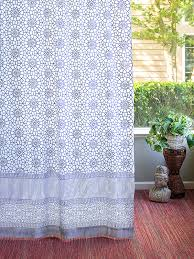 Navy Blue And White Curtains Navy Blue White Curtains Geometric Curtains Moroccan Trellis