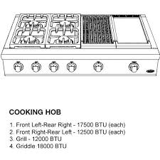 Cooktop With Griddle And Grill Dcs Professional 48 Inch 4 Burner Natural Gas Cooktop With Griddle