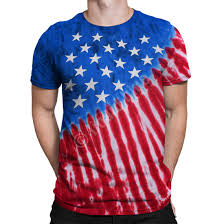 How To Tie Dye An American Flag Americana Stars And Stripes Tie Dye T Shirt Tee Liquid Blue