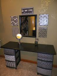 Makeup Vanity Storage Ideas Diy Makeup Vanity Brilliant Setup For Your Room