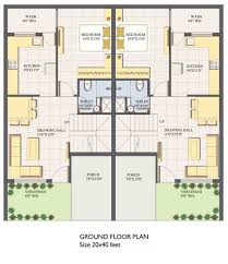 home design 60 x 40 south facing house plans for 60x40 site