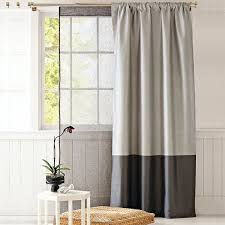 Two Tone Curtains The Two Tone Curtain For A Room With High Ceilings
