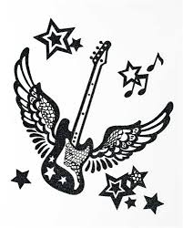 amazon com guitar with wings stickers it laptop stickers