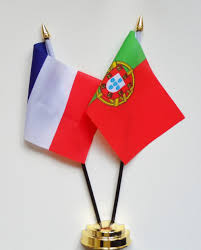 france and portugal friendship table flag