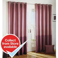 Plum Faux Silk Curtains Buy And Plum Faux Silk Curtains At Home Bargains