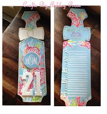 Phi Sigma Kappa Flag Monogrammed Lilly 21st Birthday Paddle With Pearls Dead Done