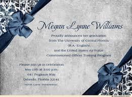 graduation quotes for invitations air graduation invitation commissioning navy blue
