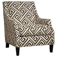 Patterned Accent Chair Greek Key Fabric Accent Chair By Benchcraft Wolf And Gardiner
