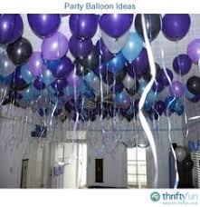 balloons party birthday blue purple translucent decoration of