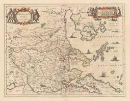 Map Of The Western States by Thessaliae Accurata Descriptio Autore I Laurenbergio Hjbmaps
