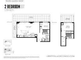 floor plan condo ten93 bedroom level condo sq ft floor plan house queen west pre