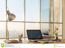 Interior Design Notebook by Side View Picture Of Studio Workplace With Blank Notebook Laptop