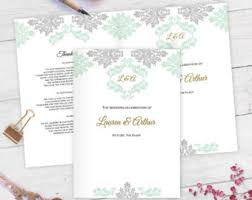 Template For Wedding Program Etsy Your Place To Buy And Sell All Things Handmade